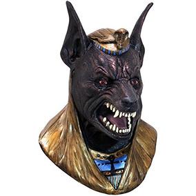 Evil Anubis Máscara De Látex Para Adultos Dios Griego Egypt