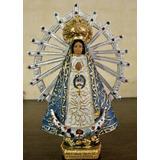 Imágen Religiosa Virgen De Luján Importada 13,5cm