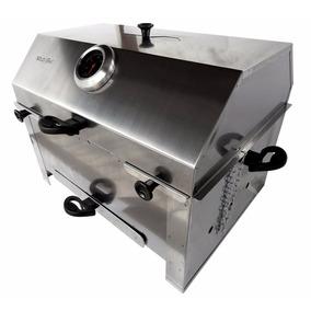 Mini Churrasqueira Inox Bafo E Grill - Sem Fumaça - Carvão