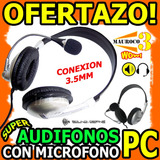 Wow Audifono Con Microfono Para Pc Laptop 3.5m Jack Surround