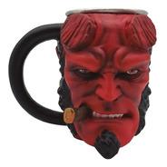 Caneca 3d Formato Hellboy 250ml Zc 10023657