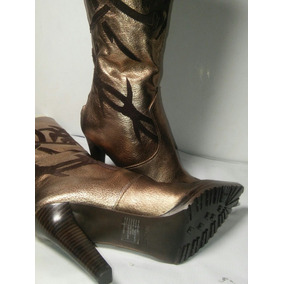 Botas Nine West Modelo Wiletta No 25.5mx Color Bronce V