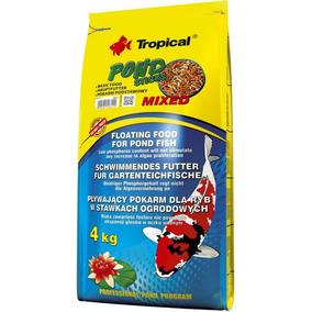 Tropical Koi & Goldfish Mixed Sticks Bag 4kg Ração P/ Carpas