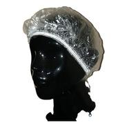 100 Touca Plástica Descartável Luxo Banho Cabelo C/ Nota