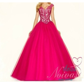 Vestido Debutante Madrinha Pink Pronta Entrega