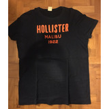 Camiseta Hollister Malibu Azul Marinho Tamanho G