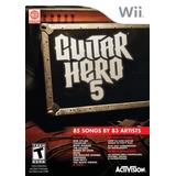 Guitar Hero 5 - Nintendo Wii Solo Juego