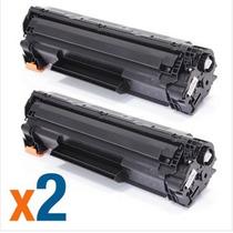 Kit 2 Un Cartucho Toner Hp Preto Ce285a Laserjet Compativel