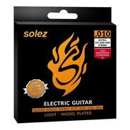 Encordoamento P/ Guitarra Solez 010 C/ 2 Cordas Extra