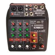 Mesa De Som 4 Canais Usb Efeito Bluetooth Interface Mc4-bt