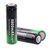 10pcs Skywolfeye 18650 Batería 5800mah 3.7v Baterías Recarga