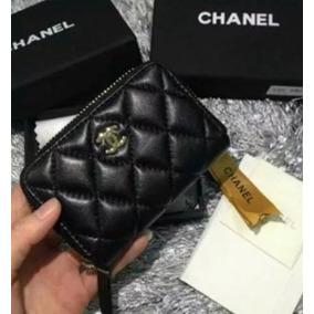 97a3133d452 Carteira Feminina Chanel Porta Cartão Couro Lambskin N Caixa