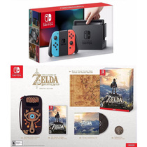 Nintendo Switch 32gb Neon Bundle + Zelda Special Edition+++