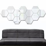 7 Espejos Minimalistas Decorativos De Acrilico Plata H4085