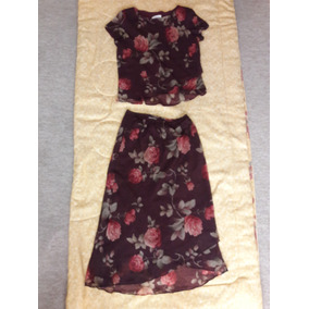 Conjunto Floreado Blusa & Falda Para Dama Miss Dorby 18