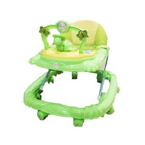 Andadera Caminadora Para Bebe Verde Con Musica Nueva Segura
