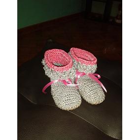 Botas, Botines, Zapatos Tejidos A Mano De Niña, Bebe