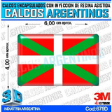 Calcomanias, Stickers, Domes Con Relieve Bandera Vasca