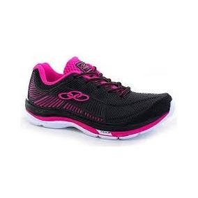 Zapatillas Olympikus Line Preto Pink Mujer Original