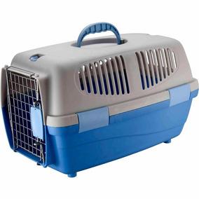 Caixa De Transporte Filhotes Cães E Gatos Gulliver N1 Azul