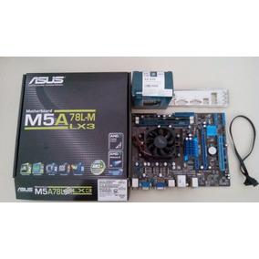 Kit Placa Mãe M5a78l-m Lx3 + Athlon Ii X2 270 + 8gb Ram