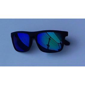 6aebc18ad7c14 Oculos Espelhado Azul Masculino Quadrado De Sol - Óculos no Mercado ...