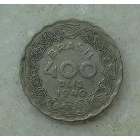 Moeda 400 Réis 1940 - 23mm Getulio Vargas Mbc - Raridade