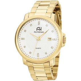 b0729a55ab3 Relogio Ana Hickmann Feminino Ah28124h Dourado Quadrado - Relógios ...