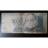 Billete 2000 Bs 1998