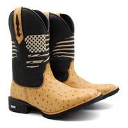 Bota Texana Botina Masculina Cano Longo Moda Country Oferta