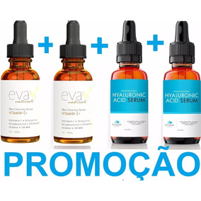 2 Vitamina C Eva 30ml Pum + 2 Ácido Hialurônico Petunia Pump