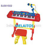 Karaoke Piano Microfono Juguete Rosado Azul Niño O Niña