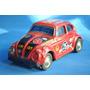 Volkswagen Escarabajo Competicion Lata Litografiada Antiguo