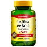 Lecitina De Soja 1000mg Maxinutri 60 Cps# Gordura No Figado