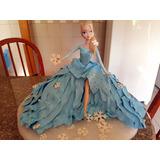 Bolo Cenográgico Maquete Elsa Frozen Biscuit