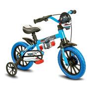 Bicicleta Bicicletinha Infantil Menino Aro 12 Veloz Nathor
