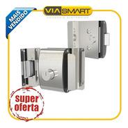 Fechadura Elétrica Para Portas De Vidro Agl Com 02 Cilindros