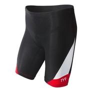 Calza Tri Short Carbono Con Badana Tyr Triatlón, Ciclismo