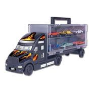 Carreta Com 6 Carrinhos Braskit Criança Menino Caminhão