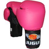 Luva De Boxe Muay Thai Combate Jugui Rosa 14 Oz
