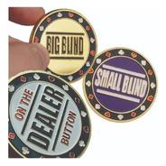 Fichas De Poker Dealer Big Blind Small Blind Jogo 3 Peças