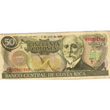 Billete De Costa Rica De Cincuenta Colones