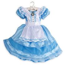 Disney Store Traje Alicia Disfraz Pais De Las Maravillas