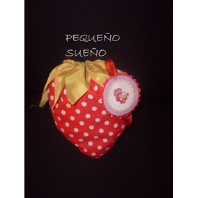 Bolsitas Cumpleaños Tela Golosinera Frutillitas Princesas