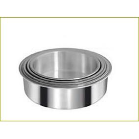 Tortera Redonda Fondo Fijo 22cm En Aluminio