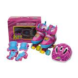 Baby Kits -set De Patines De 4 Ruedas + Protección - Alitas