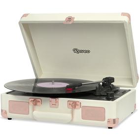 Toca Discos Sonetto Gravação Bluetooth Ouro Rosa