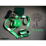 Slackline Precise Feet Natureline Verde C-protector Y Cuerda