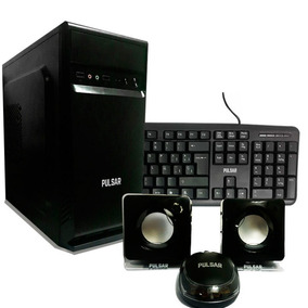 Gabinete Kit Pc + Fuente 550w + Teclado + Mouse + Parlantes