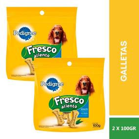 2 Bolsas Pedigree Galletas Aliento Fresco Perro Adulto 100g